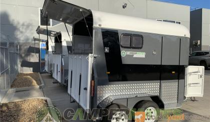 Most affordable essential extended 2-horse straight load float on sale. on HorseYard.com.au