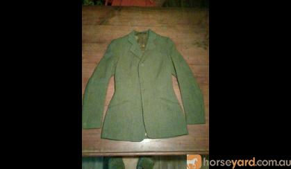 Jacket Olive Green Herringbone Tweed  on HorseYard.com.au
