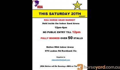 RDA HORSE GEAR MARKET THIS SATURDAY VIC on HorseYard.com.au