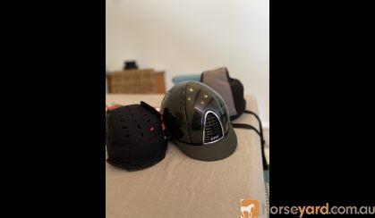 Black KEP Cromo Shine Helmet  on HorseYard.com.au