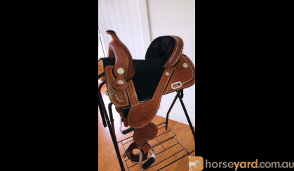 Imported Tammy Fischer Barrel Racing Saddle  on HorseYard.com.au