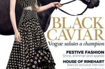 Black Caviar Graces The Cover Of Vogue